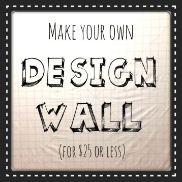 How to Make a Design Wall