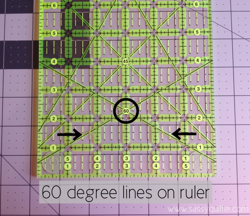 Cutting Triangles using your ruler! - The Sassy Quilter : 60 degree ruler quilting - Adamdwight.com