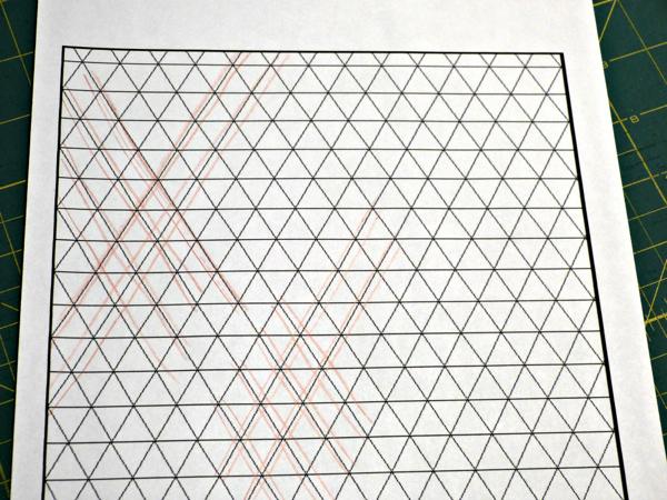 Straight Line Triangle Quilt Design