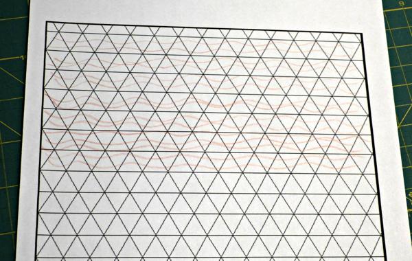 Organic Triangle Quilt Design