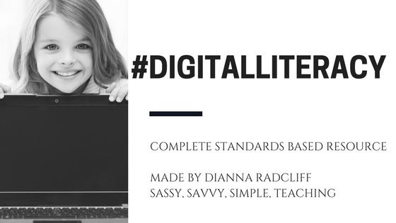 #DIGITALLITERACY   -   Paperless Standards Based Literacy Activities