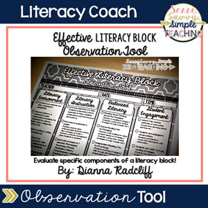 Literacy Coach Observation Tool