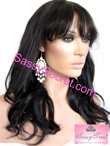 Lace Front Wig With Bangs Fringe FREE Shipping By