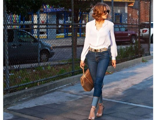 1.-Stylise-your-button-down-shirt-with-slim-fitted-denims