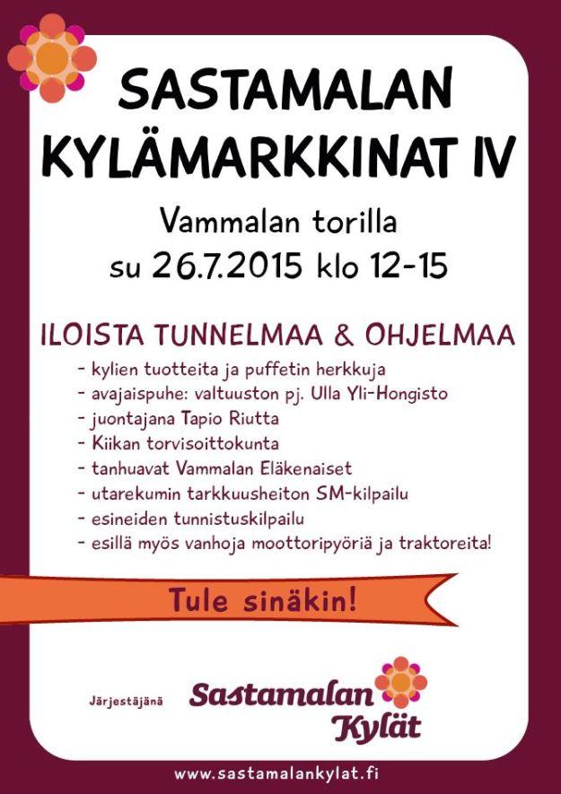 Sastamalan Kylämarkkinat -juliste
