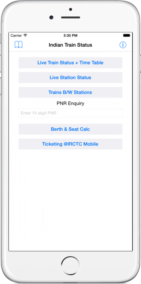 Train Status on iPhone 6 Plus