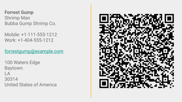 Business Card App - Screenshot