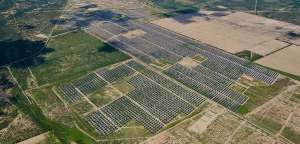 Dual Axis Solar Tracker Farm in Pecos County Texas