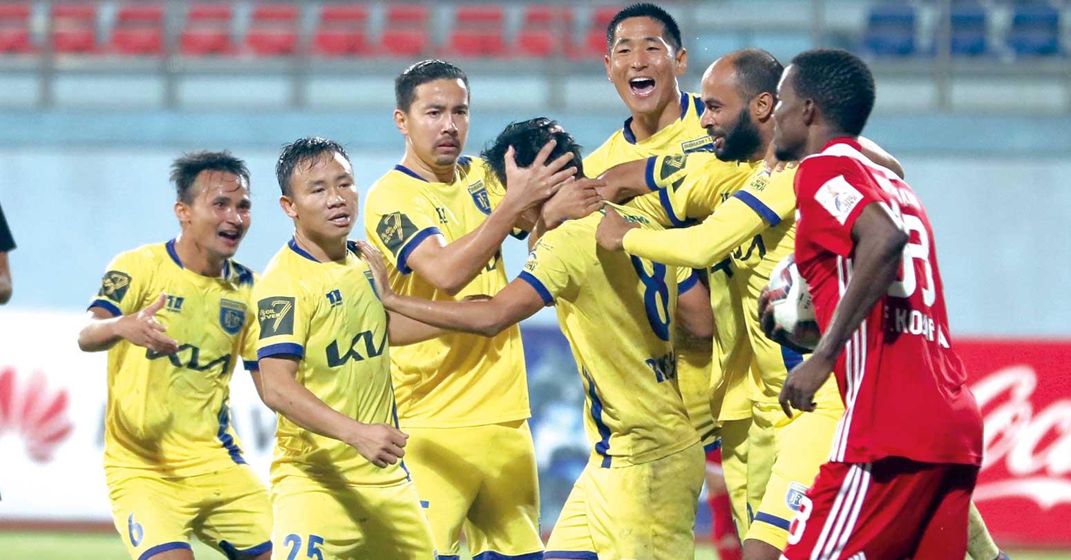 काठमाडौं रेजर्सलाई २–१ गोलले पराजित गर्दै धनगढी एनएसएलको उपाधिनजिक