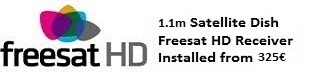 1.1m satellite dish installations for uk tv freesat HD Oliva