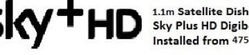 1.1m satellite dish installations for uk tv sky+hd Oliva