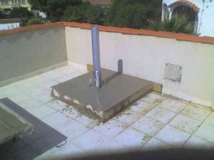 install a satellite dish in Spain concrete base