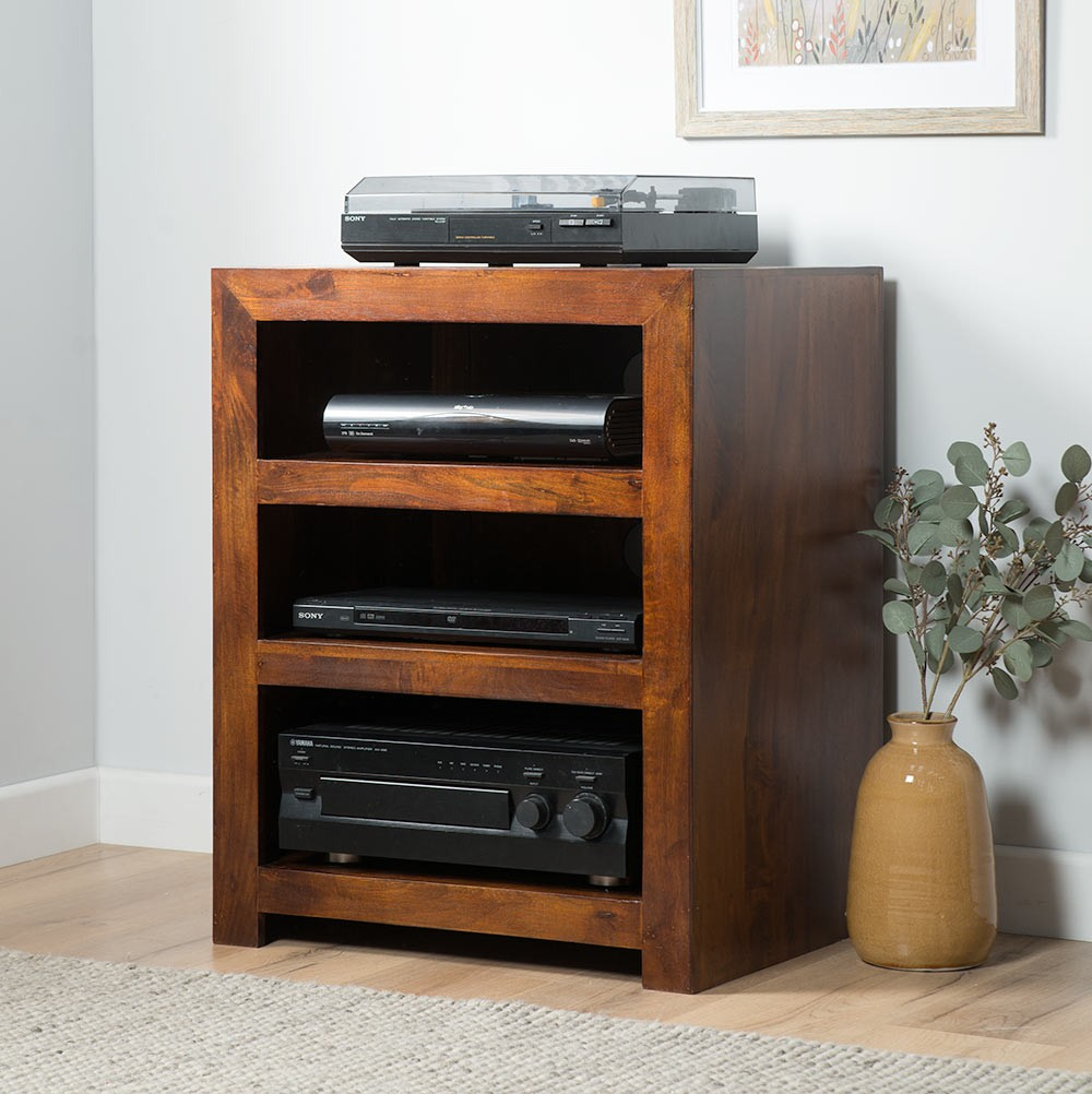 Dark Wood Low Bookcase