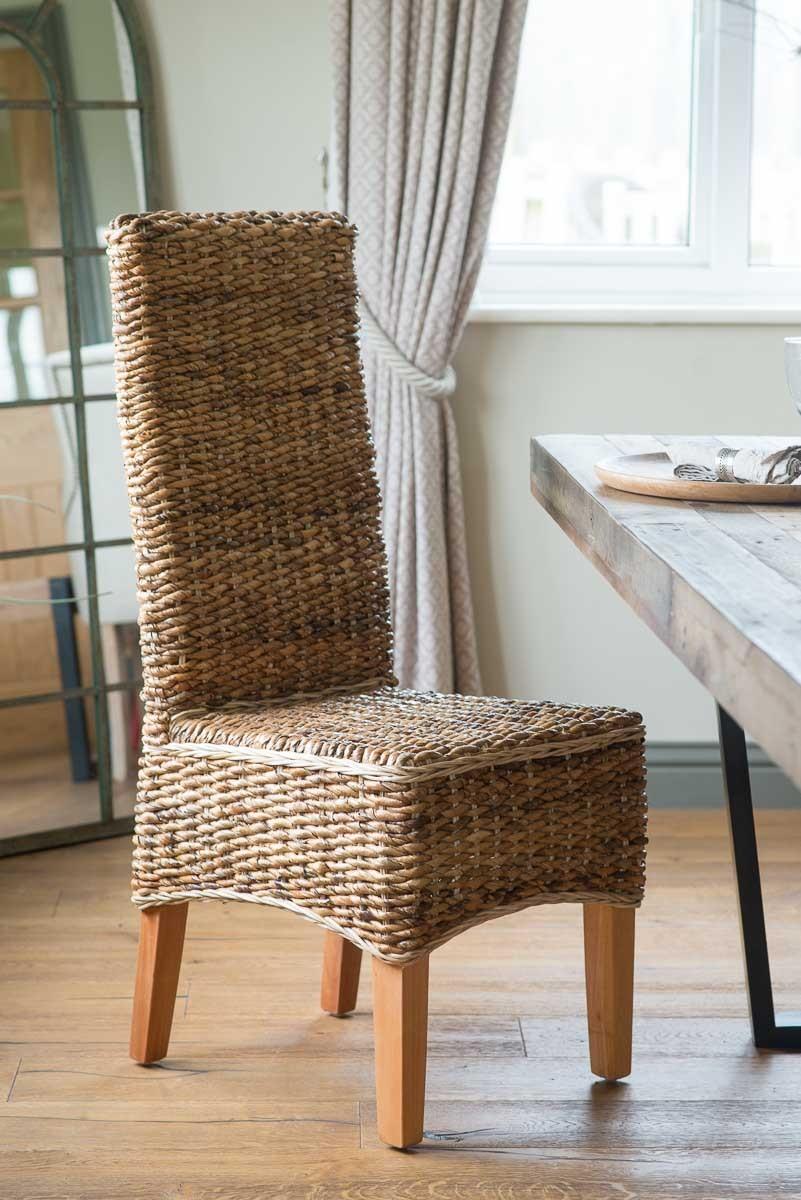 Dining Chair Light Rattan Light Coloured Legs Casa