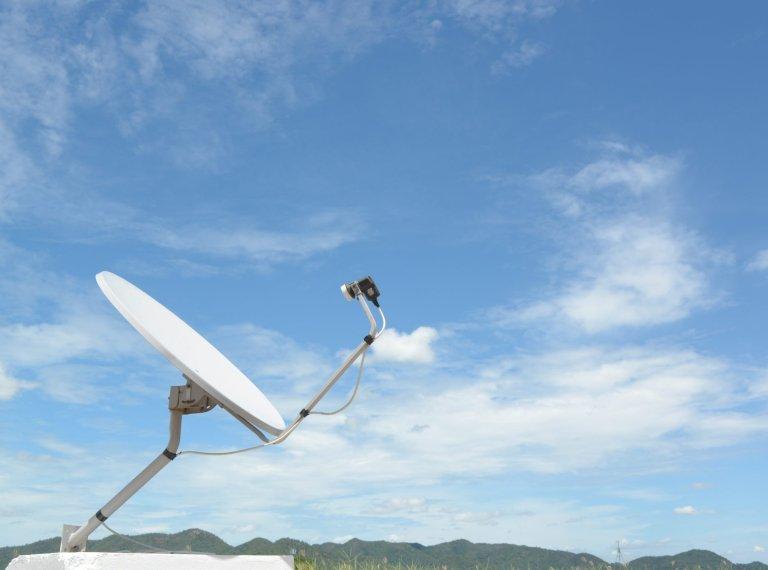Satellite Internet Dish Image