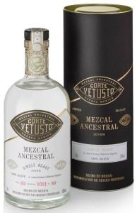 Corte-Vetusto-Mezcal-Ancestral-Sierra-Negra-Tube-and-bottle-Sated-Online