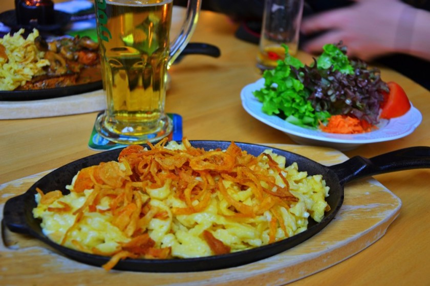 Käsespätzle, Traditional German Pasta with Cheese