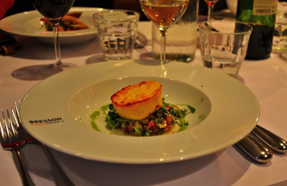 Asparagus soufflé at Bresson, Utrecht, Holland