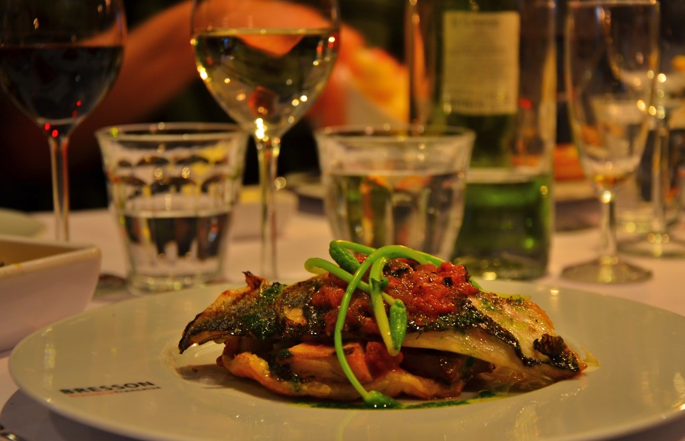 Fish filet at Bresson, Utrecht, Holland