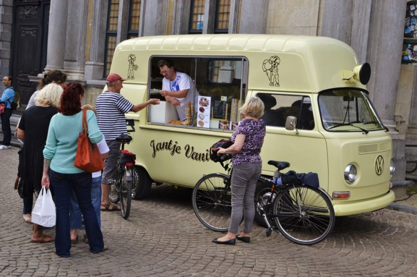 Waffle car in Bruges, Belgium