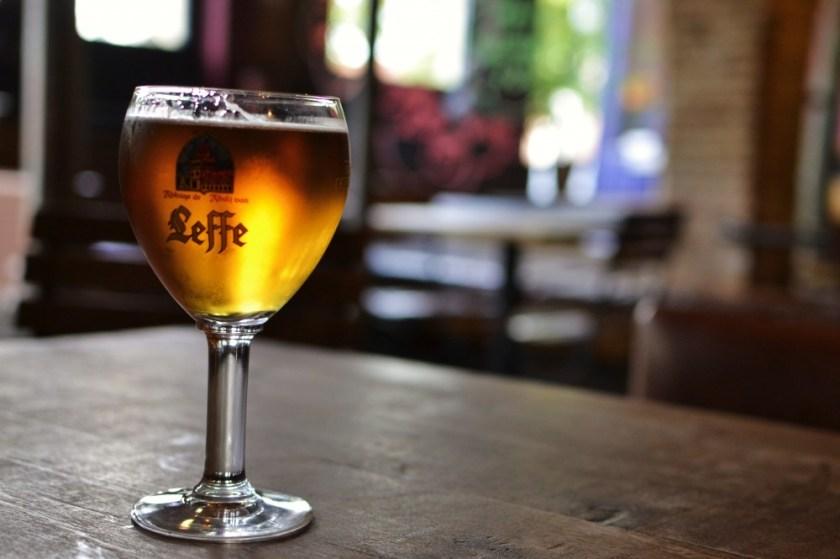 Leffe beer in Bruges, Belgium