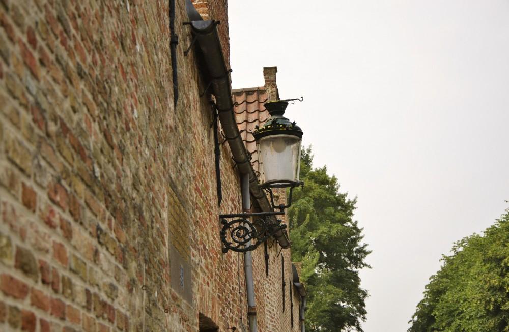 Brick houses in Bruges, Belgium