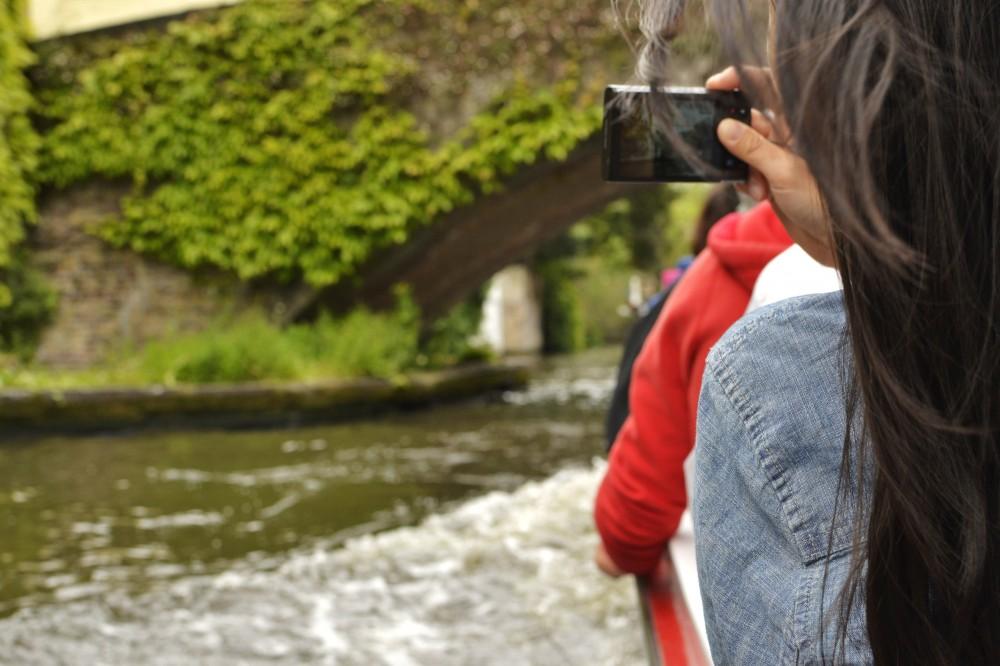 Canal boat ride in Bruges, Belgium