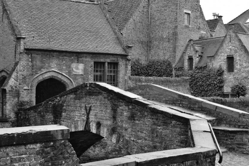 Medieval houses in Bruges, Belgium