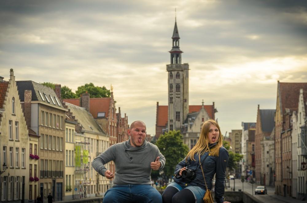 Julika and Steffen in Bruges, Belgium