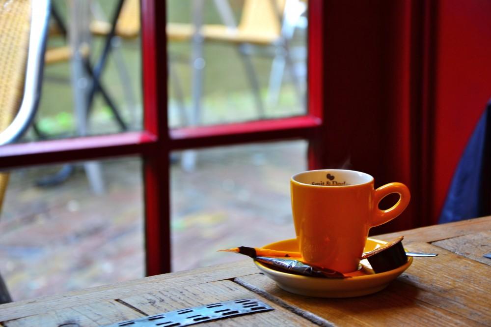 Coffee in rainy Utrecht, Holland