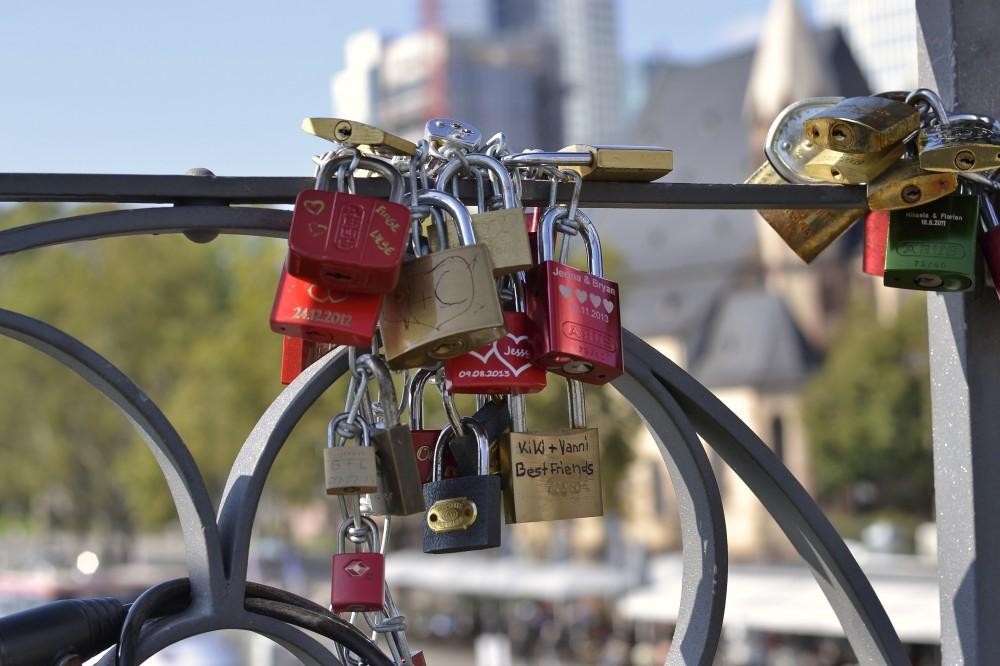 Love locks, Frankfurt, Germany