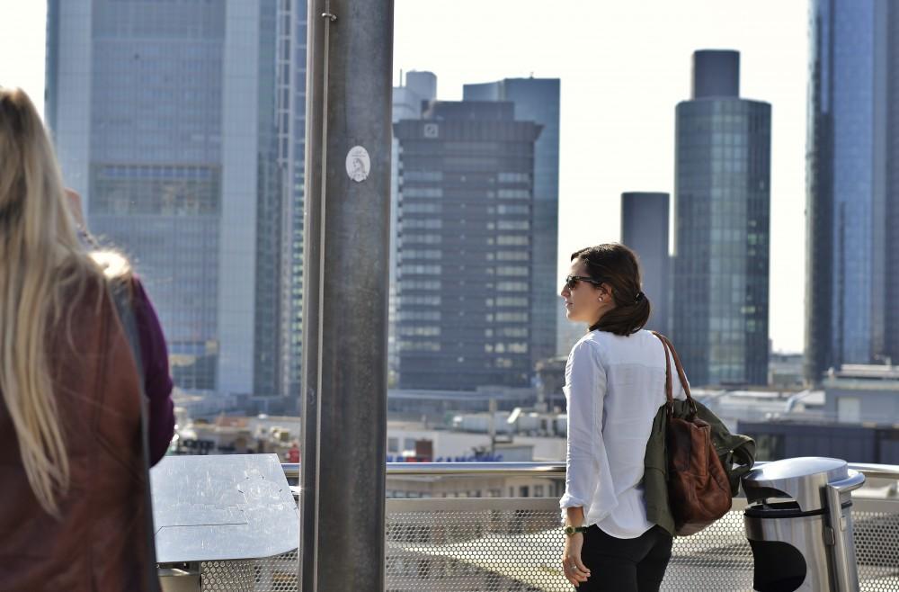 On top of Zeilgalerie, Frankfurt, Germany