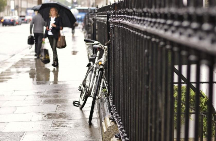 A rainy day in Dublin, Ireland