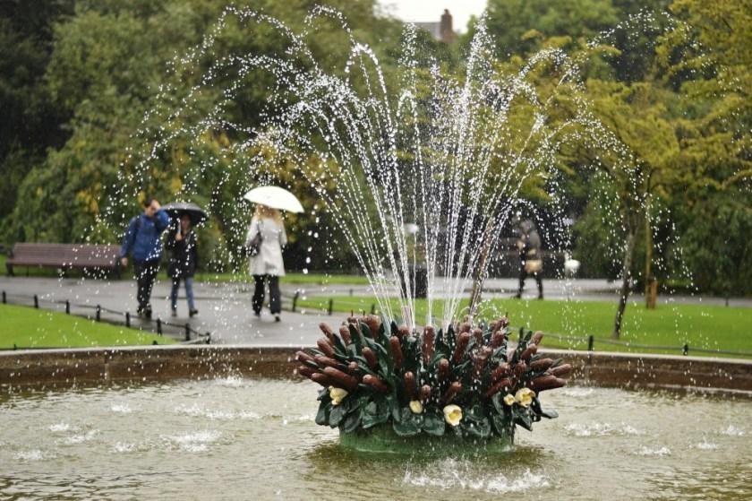 Fountain in St. Stephen's Green, Dublin, Ireland