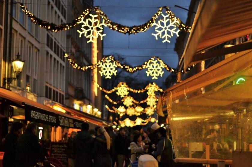 Christmas lights in Düsseldorf, Germany