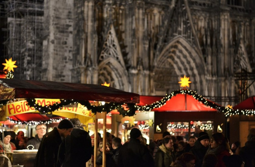 Christmas lights in Cologne, Germany