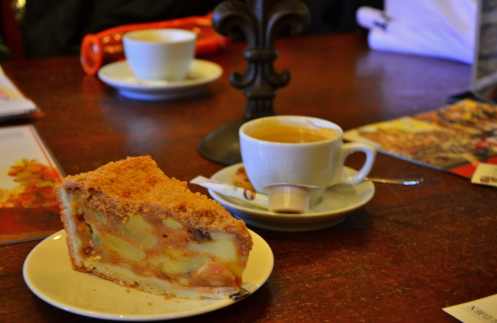 Coffee and cake in Utrecht, Holland