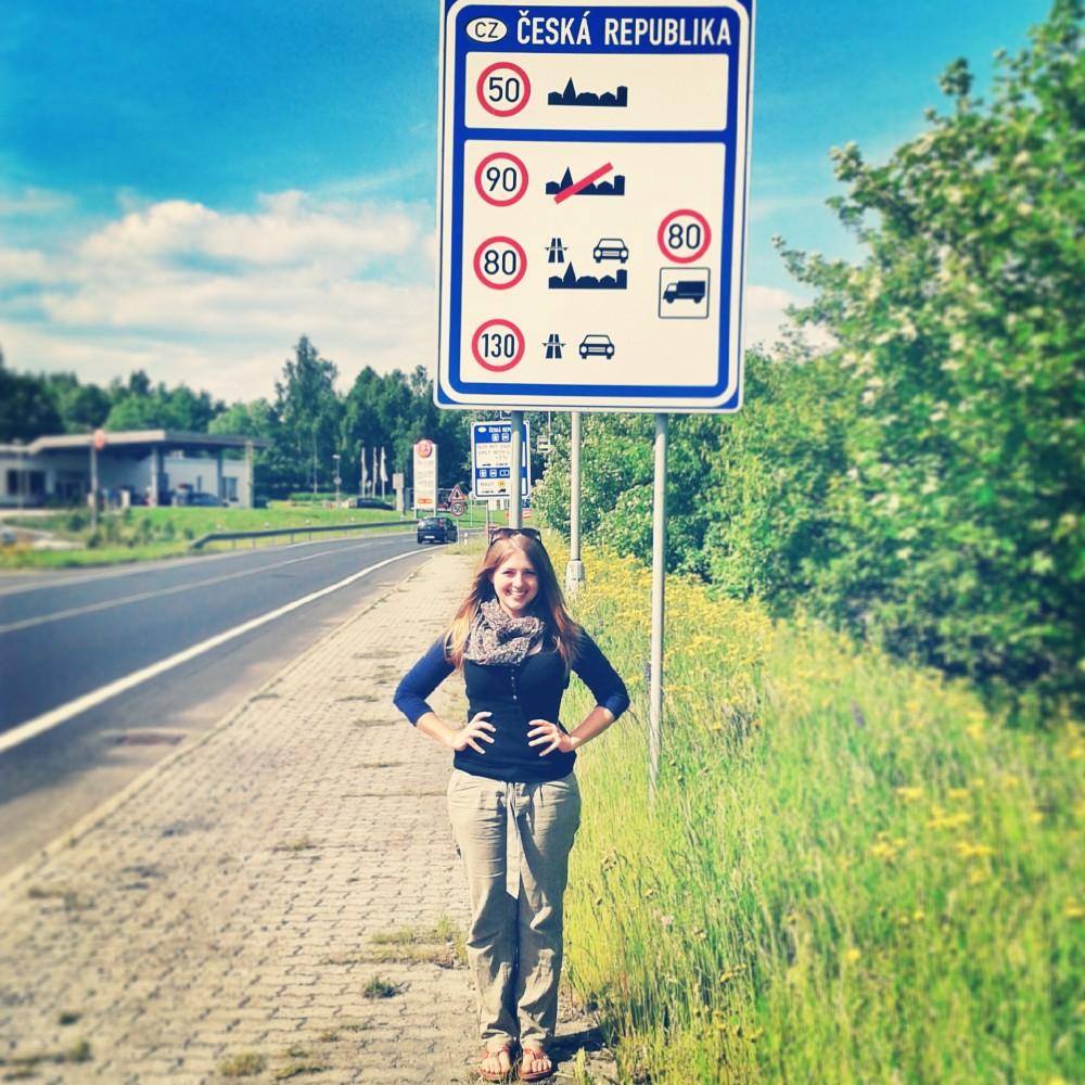Julika at the Czech border