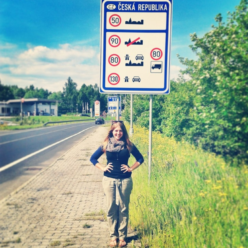 Julika at the Czech border