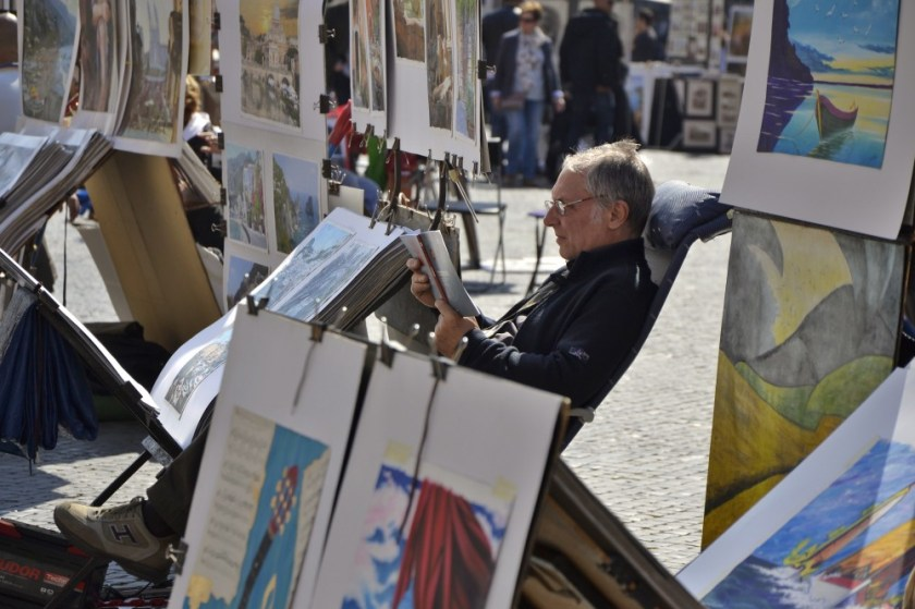 Artist in Rome, Italy