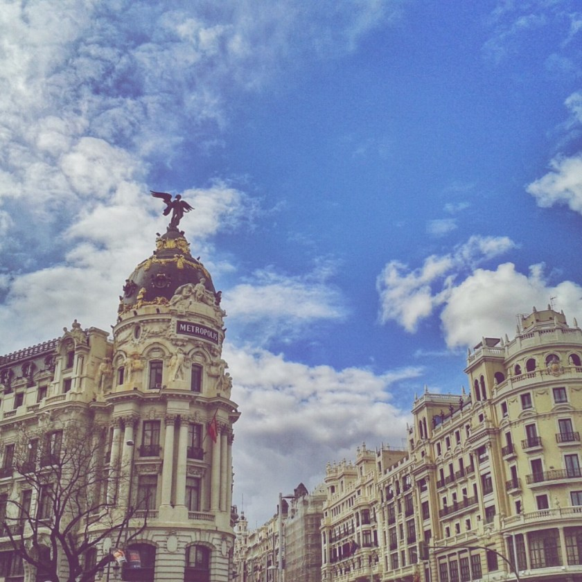 Gran vía, Madrid, Spain