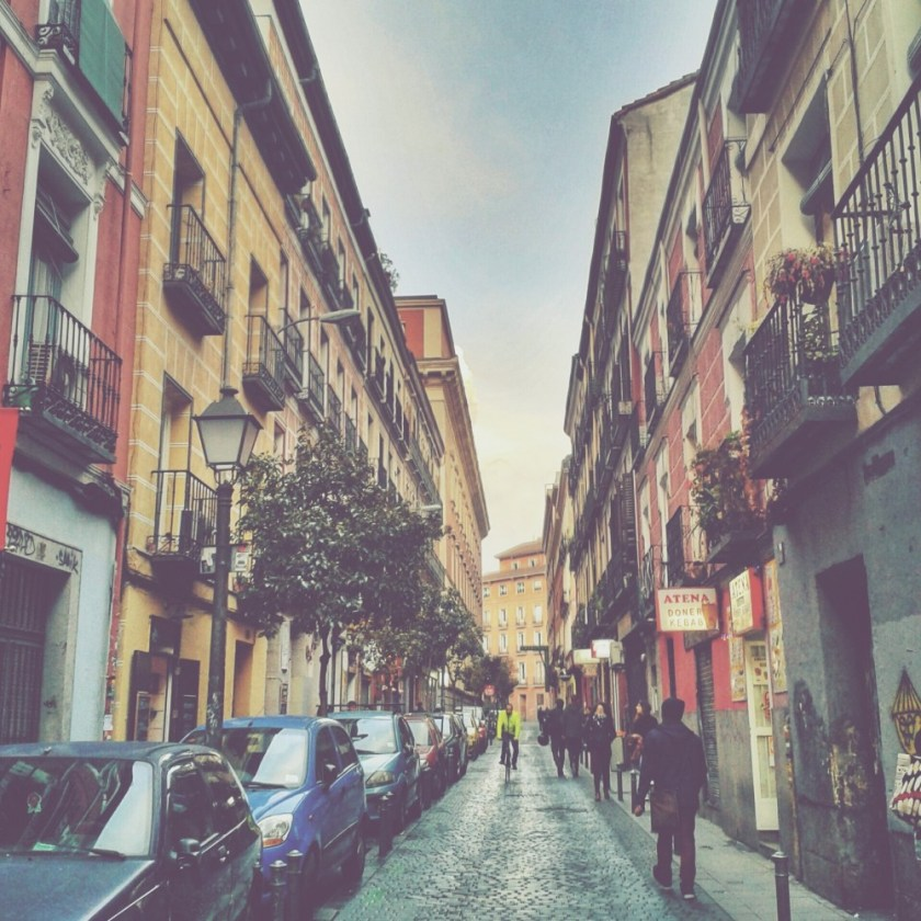 Streets in Madrid, Spain