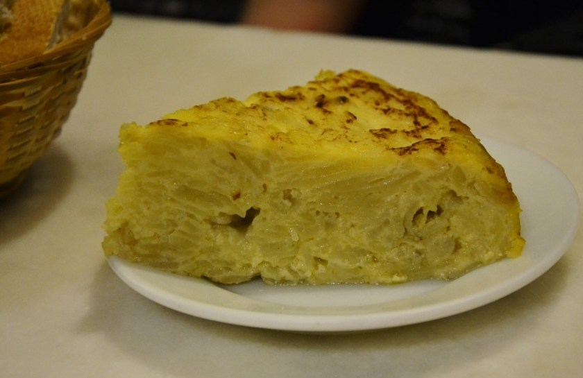 Tortilla in Madrid, Spain