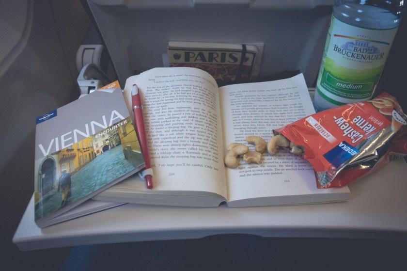 Flying to Vienna, Austria