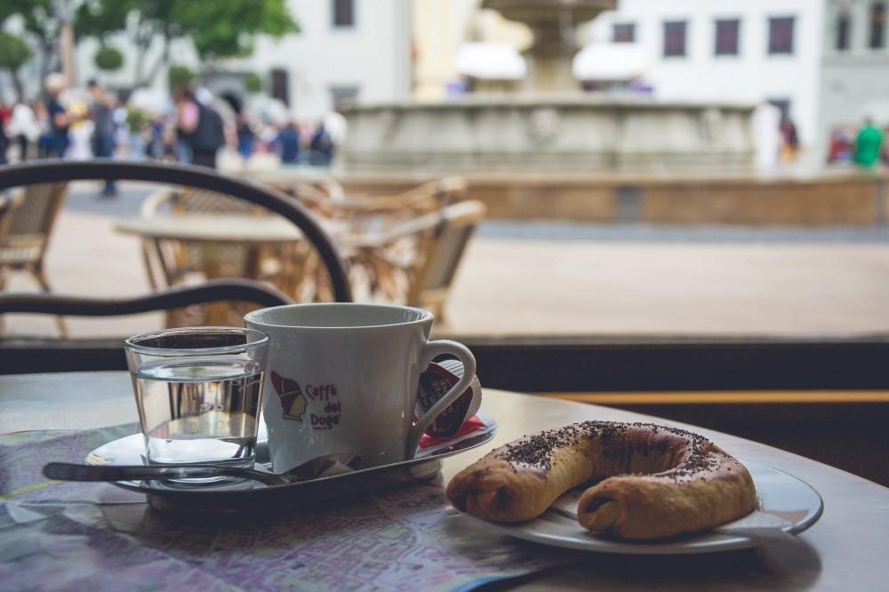Coffee in Bratislava, Slovakia