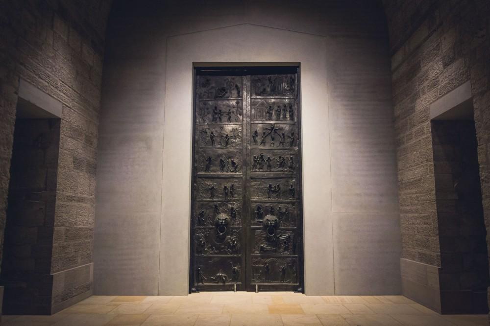 Bernward Doors in Hildesheim, Lower Saxony, Germany