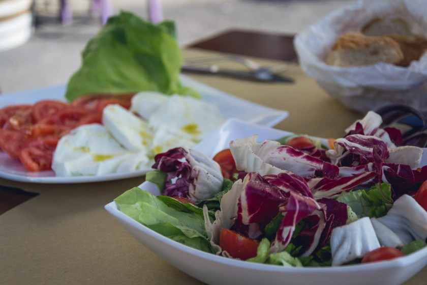 Salads in Florence, Italy