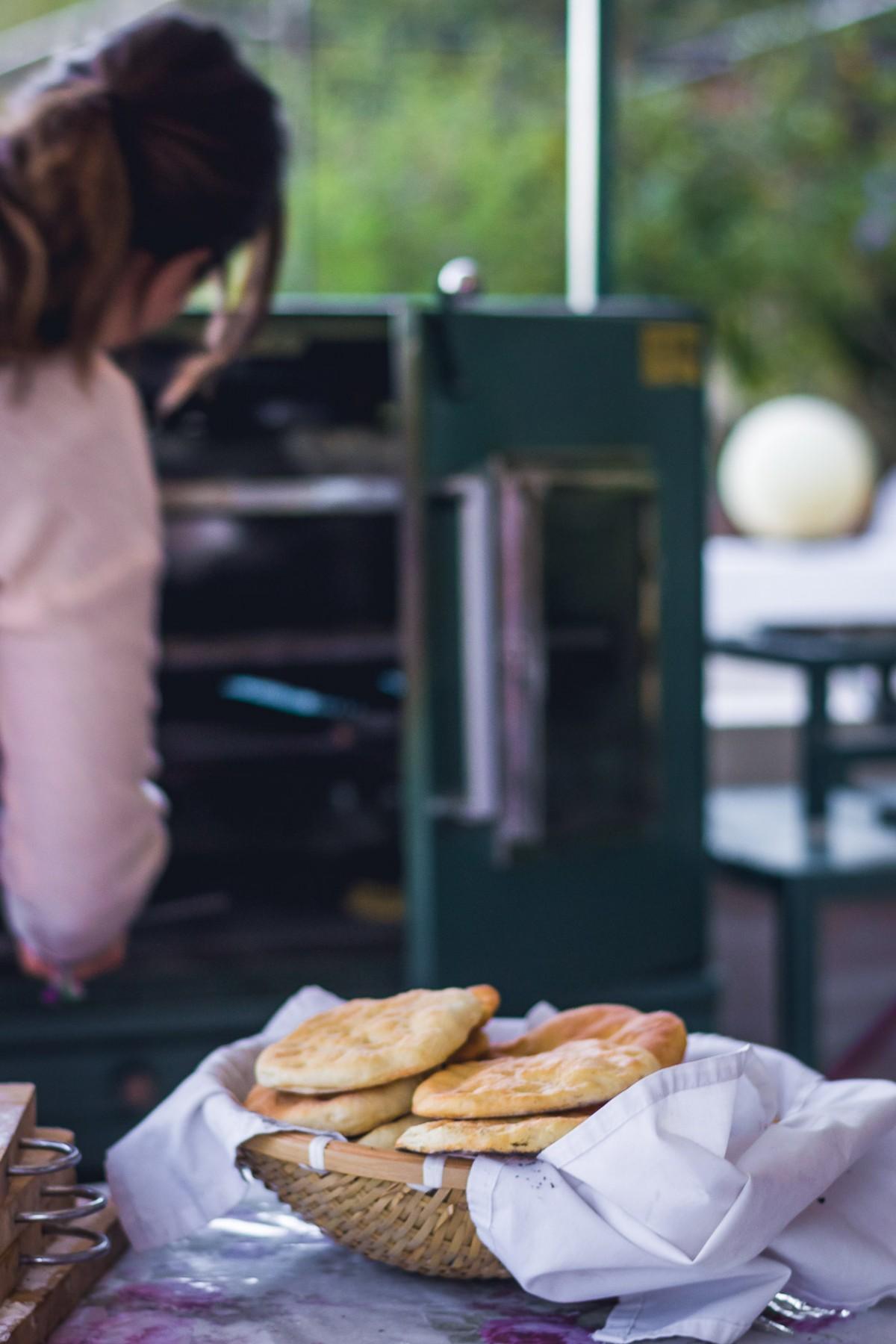 Making pita bread, Amman, Jordan