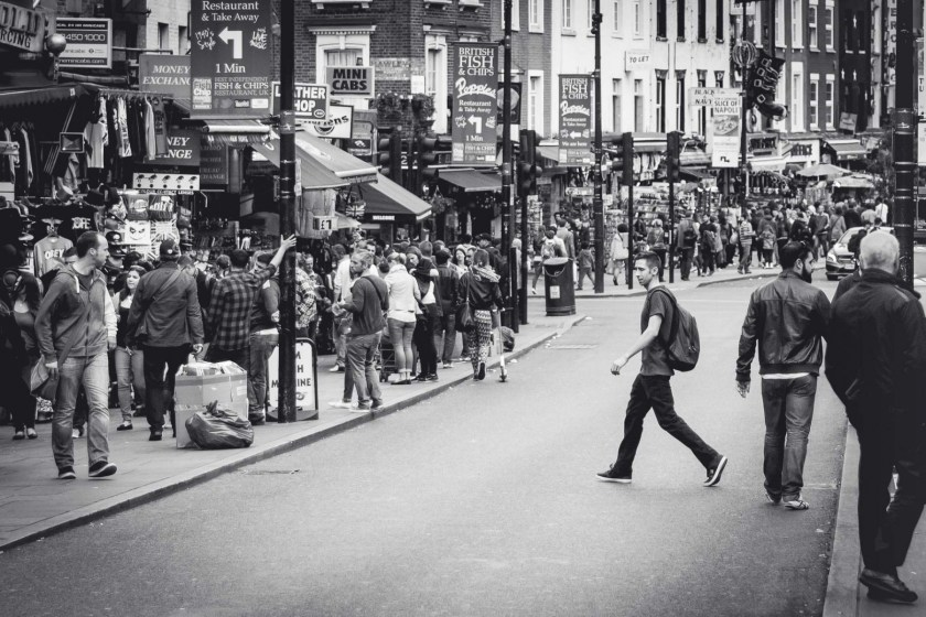 London in black and white photos