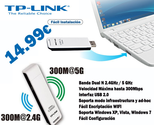 DISPOSITIVO WIFI DUAL TPLINK WDN3200